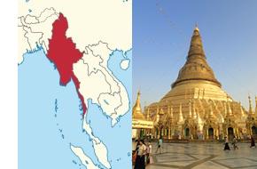 ミャンマー地図、イメージ
